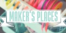 Maker's Places / Loving these crafting spaces