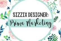 PRIMA MARKETING, INC. FOR SIZZIX / A marriage made in die-cutting heaven! Designed by Prima exclusively for Sizzix, the new Flora Grande range is a stunning homage to the possibilities of die cutting and to the ethereal, grand style of Prima designs.  / by Sizzix
