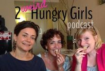 pure podcasting: 2 weird hungry girls / our weekly podcast. we our eating and laughing our way through life.  you should subscribe.  it's fun.