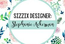 STEPHANIE ACKERMAN FOR SIZZIX / Whether it's paper, fabric, dough or paint, Stephanie Ackerman is a mixed media artist who's a lot like you, combining a busy mom lifestyle with her many creative passions. A former member of the Prima Education Team, a rubber stamp designer for Purple Onion Designs and now a die designer for Sizzix, Stephanie draws upon her vast experiences in stamp carving, stitching, art journaling, making tags and working with canvas and wood to inspire this uniquely upbeat collection just for you!  / by Sizzix