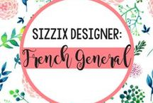 French General for Sizzix / Bringing the classic look of the French countryside to the U.S., French General presents sophisticated Parisian possibilities in its debut collection for Sizzix. Inspire your creativity and your storage with designs to create and decorate your own personalized storage for beads, buttons, notions and more! / by Sizzix