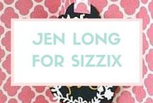 Jen Long for Sizzix / Jen's artwork is a strong combination of both traditional drawing skills and digital technique that makes for gorgeous, elegant shapes and for her collections for Sizzix. / by Sizzix