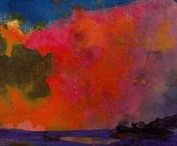 EMIL NOLDE / Landscape Paintings of the artist Emil Nolde: 7 August 1867 – 13 April 1956 was a German-Danish painter and printmaker. He was one of the first Expressionists He is known for his vigorous brushwork and expressive choice of colors. Golden yellows and deep reds appear frequently in his work, giving a luminous quality to otherwise somber tones. #abstract #abstractlandscapes #art #emilnolde #landscapepaintings #abstractpaintings