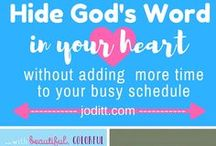 Hide God's Word in Your Heart | Memorize Scripture / Bible study, hiding God's Word in your heart, Scripture memory, Scripture memorization, Bible study tools