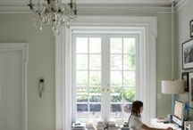 Chic Work Spaces / Working spaces for Crafts, Sewing, Office and Music.  / by Kristen Bomberger