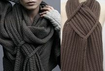 Shawls, Scarfs, Collared Cowls, Headbands / Crocheted, knitted, sewn