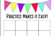 Music Practice Charts / Practice charts for music lessons. Tips on practicing.