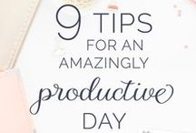 Productivity & Planning / How to be productive - tips to plan, planners, all about planning your days, business planning, routines, techniques to save time