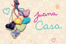 Juana Home - Casa / Linea casa donde cada pieza es única, no hay dos iguales. Our home line.  In this line each item you see is unique we make them with different combination of stamps and colors that make each piece unique. Moet of them are done with recycle materials from our production.  Shop online www.juanadearco.net