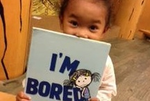I'M BORED In The Wild / Gallery of photos featuring people reading I'M BORED (Author: Michael Ian Black, illustrator: Debbie Ridpath Ohi, Simon & Schuster Books For Young Readers). I welcome submissions: http://debbieohi.com/readerphoto. For book-focused (altered images or book on shelf) fun press & sightings, see http://pinterest.com/inkyelbows/i-m-bored-press-sightings-non-reader/