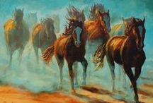 Horses in Art / by Delane@AutumnWoodBears