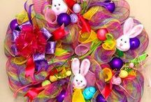 Easter Wreaths / Offering a large selection of beautiful Easter wreaths. Colorful combinations of bunnies, flowers, and lovely bows add a beautiful and unique design touch to each wreath...