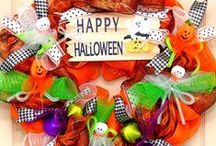 Halloween Wreaths / Ghosts, Witches, and Pumpkins highlight our selections of beautiful and whimsical Halloween wreaths.