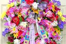Floral Wreaths / A beautiful selection of colorful floral wreaths.