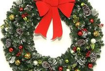 Large Christmas Wreaths / Ranging in size from 30 inch all the way up to 10 Foot Christmas Wreaths. Our selection of decorated, LED, Incandescent, Multi-color, and undecorated Christmas Wreaths.