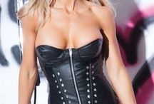 Black Leather Corset / Shop for Sexy Leather Lingerie, black leather corset, leather bustier, leather pants and leather teddy at SincityPlaywear.com