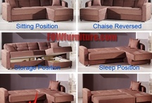 Sofa Beds / Your overnight guests will truly appreciate these collections of convertible click-clack sofa beds for the sleeping space and you will appreciate the storage.
