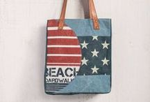 Canvas Bags from MonaB / This new line of recycled canvas bags from Mona B is Hot, Hot, Hot! We've had terrific response to these unusual canvas bags and some of the styles will be sold out before they even arrive in mid-April! See one you like? Don't miss out! Pre-Order now to ensure the earliest possible delivery.