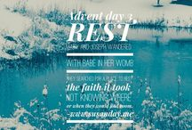 Advent 2015 / Walk with me through advent one day at a time,  one word at a time.