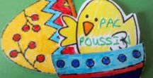 Oeufs de Paques en papier / Ateliers en tout genre effectués avec les enfants - Oeufs de Paques