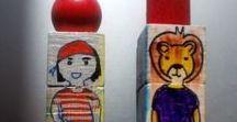 Puzzle cubes - personnages / Ateliers en tout genre effectués avec les enfants - Puzzles cubes pivotants