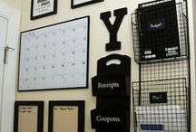 Get Organized! / Tips to get areas of your home and life organized.