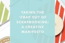Scrapbooking Inspiration / Scrapbooking, minimal scrapbooking, simple scrapbooking, scrapbook page design, hybrid scrapbooking, digital scrapbooking, Project Life.