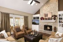 Home: Fireplace & TV Placement / by Kirst