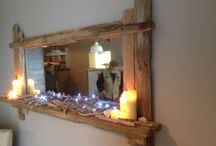 Driftwood mirrors / Handcrafted distressed and painted @ surfmirrors.com