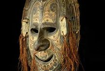 Papua-New-Guinea Masks / #Papouasie #masks  / by Xea B.