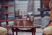 { Glassware and Tableware } / eclectic mix of vintage glassware and tableware rentals