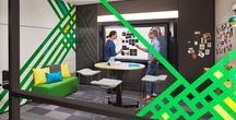 Creative Spaces: Ideation Hub / The Ideation Hub is a great place for brainstorming. It's a high-tech destination that encourages active participation and an equal opportunity to contribute. Here people can co-create, refine and share ideas with co-located or distributed teammates.