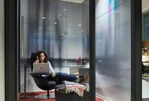 Creative Spaces: Respite Room / The Respite Room is designed with the understanding that creativity requires balancing active group work with solitude and individual think time. Here, people may generate their own ideas without interruption or spend time absorbing information they just heard.