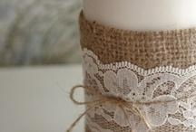 Burlap and twine / and Mason jars and prim beauty / by Heather Shadden-Mattocks