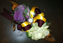 Homercomin' / Homecoming flower ideas. Inspired a  Happy Potter themed corsage and boutineer. Made of kale and cabbage flowers.  #harrypotterflowers #homecomingflowers / by Cara Girl