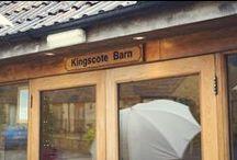 Kingscote Barn Wedding / Winter wedding at Kingscote Barn, Binley Farm, Tetbury, Glos.
