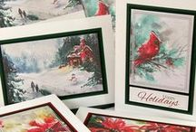 Christmas/Winter / Cards, pages and other handmade crafts perfect for the holiday season.