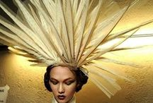 """Millinery Fascinator Inspiration / """"I was so inspired by the way she (Isabella Blow) wore my hats. She wore them like she was not wearing them — like they happened to be there."""" — Philip Treacy    / by Jen Ŵentz ℳeador"""