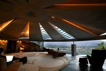John Lautner, FAIA / Major works: •Foster Carling home •GOOGIE Coffee Shop, 1949 •Harpel Residence •Chemosphere, Malin home, 1960, W.H'wd •Reiner-Burchill home/Silvertop, 1956 •Elrod home, Palm Springs, 1968 •Hotel Lautner, 1947, Palm Springs •Bob Hope home, 1973, Palm Springs •Arango home/ Marbrisa, Acapulco •Sheats-Goldstein home, 1963, Beverly Crest •Garcia House/Rainbow, W.H'wd / by Jen Ŵentz ℳeador
