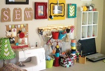 House: Office, Craft Room, Gym / Ideas for a multipurpose room to use as an office, space to do crafts, and exercise area.