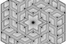 zentangel schwarz weiß