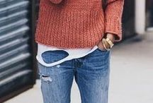 Fall casual /Jeans sweaters jewelry