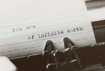inspiration / words