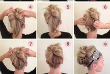 Hairstyles / Hairstyles for all hair types. Great ways to wear hair down, pinned back, in a ponytail, bun, braids and more.