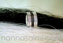 Horsehair rings - made for customers / Custom made rings for our customers all over the world.