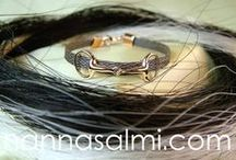 Horsehair bracelets  - made for customers
