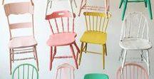 Chaises, fauteuils et tabourets DIY / Idées pour relooker ou fabriquer ses chaises, fauteuils et tabourets !
