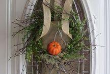 front door decor {wreaths} / by Rebecca Peterson