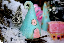 "Fairy Houses ❀ Fairy Gardens / Disclaimer: These are just ""PINS"". I don't claim copyright or ownership of any content on this board. / by Tinsel Fairy"