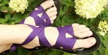 Flats - Interchangeable Ribbon Sandals / Lightweight and flexible, our flat sandals are available in women's and kid's whole sizes and come with 5 pairs of interchangeable ribbons. Mohop.com/Flats